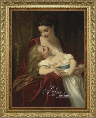 Maternal Affection, after French artist Hugues Merle