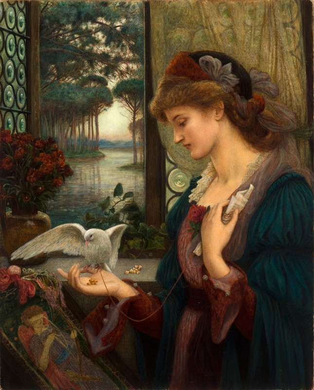 Love's Messenger, c.1885, Oil on Canvas