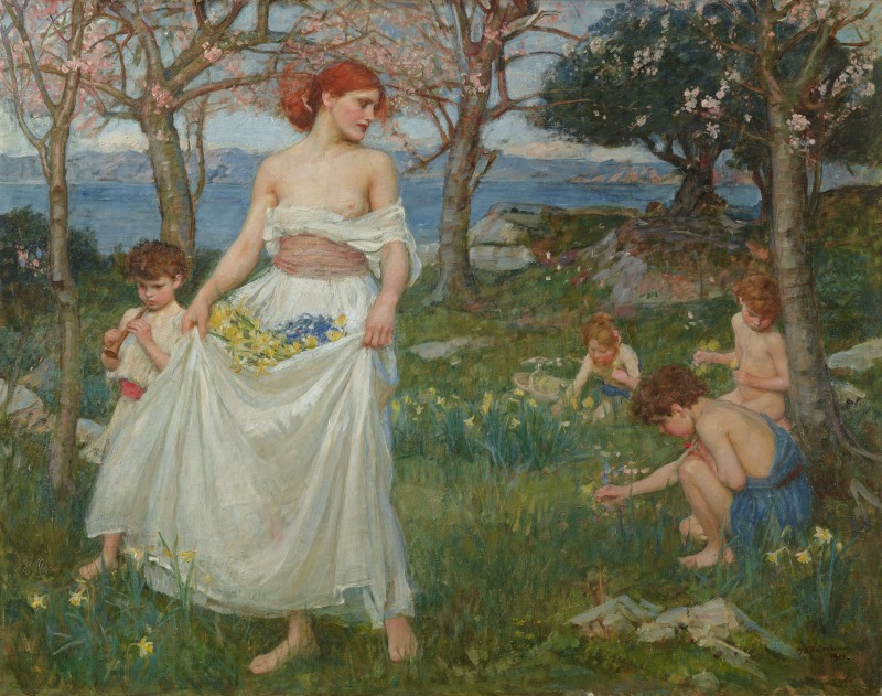 A Song of Springtime, c.1913, Oil on Canvas