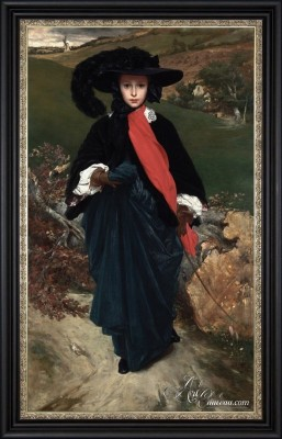Portrait of May Sartoris, after Frederic Leighton