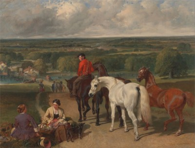 Exercising the Royal Horses, c.1855, Oil on Canvas