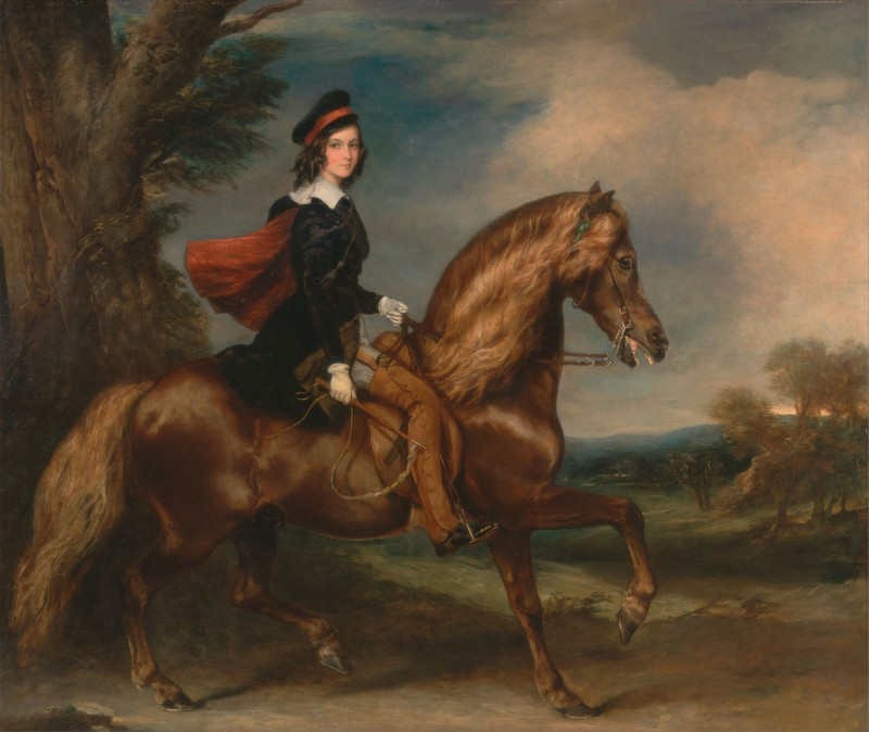 James Keith Fraser Riding Culloden, c.1844, Oil on Canvas