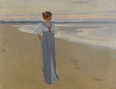 On the Sands, c.1905, Oil on Canvas