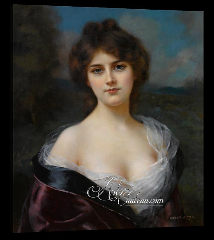 Ritratto Femminile, after British artist Abbey Altson