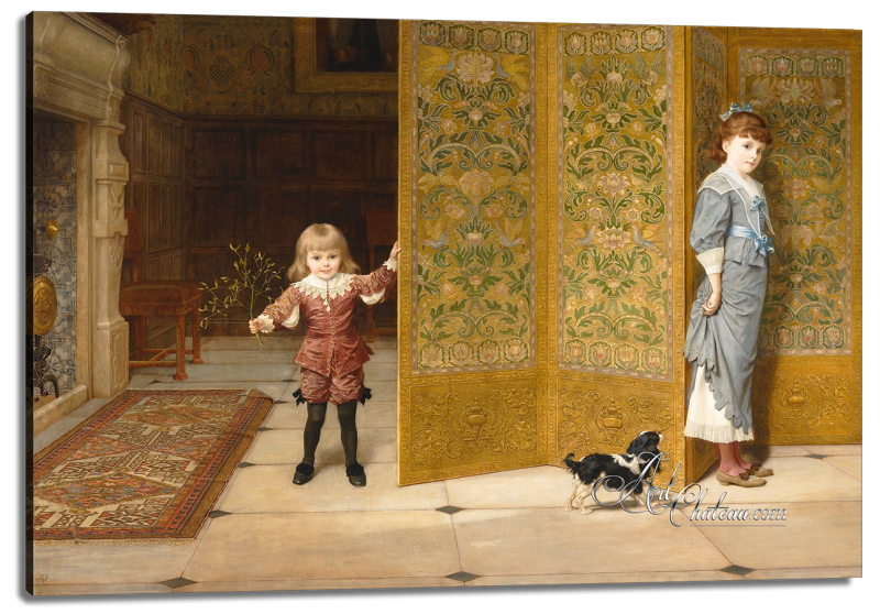 Puritan and Cavalier, after Frederick Goodall