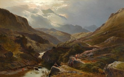On the Road to Loch Turret, Crieff, c.1868, Oil on Canvas
