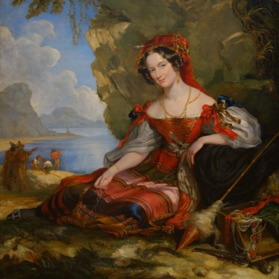 Portrait of Lady Caroline Montagu in Byronic Costume, c.1831, Oil on Canvas
