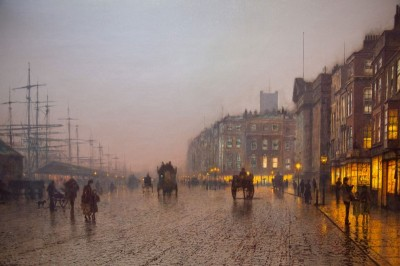 Liverpool from Wapping, c.1885, Oil on Canvas