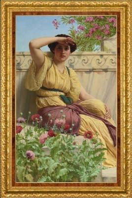Pre-Raphaelite Painting, after John William Godward
