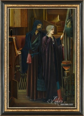 The Wizard and the Maiden, after Edward Burne-Jones
