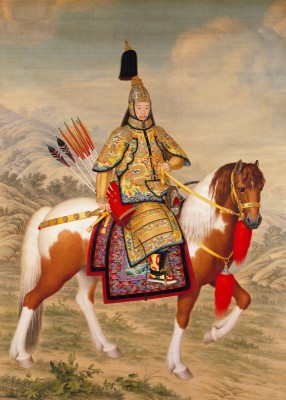 The Qianlong Emperor in Ceremonial Armour, c.1758, Ink and Pigment on Silk