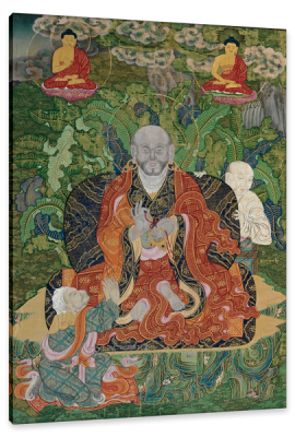 Buddha, and the Attainment of Nirvana, c.1794, Distemper on Woven Fabric