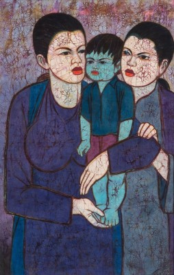 Mother with Children, c.1958, Oil on Canvas