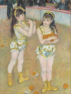 Cirque Fernando Acrobats, Francisca and Angelina Wartenberg, c.1879, Oil on Canvas