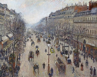 Morning on the Boulevard Montmartre, c.1897, Oil on Canvas