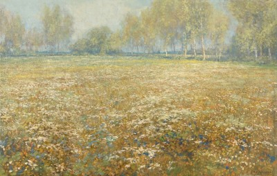 Meadow in Bloom, c.1912, Oil on Canvas