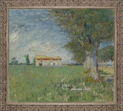 Farmhouse near Arles, after Painting by Vincent van Gogh