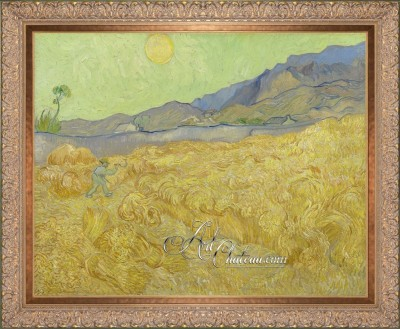 Wheatfield With A Reaper, after Vincent Van Gogh