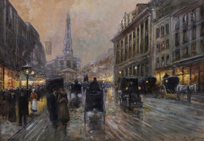 The London Strand, c.1920, Oil on Canvas