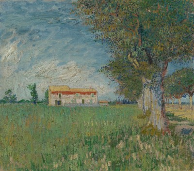 Farmhouse in a Wheatfield, near Arles, France, c.1888, Oil on Canvas