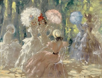 Umbrellas, c.1926, Oil on Canvas