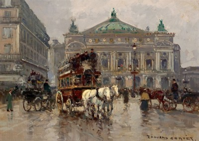 Avenue de l'Opera, c.1925, Oil on Canvas