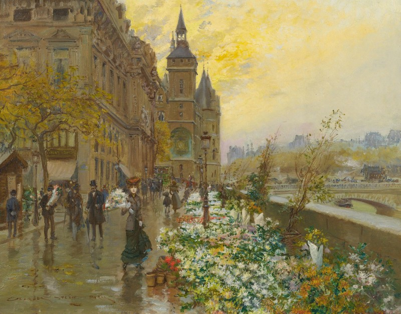 Flower Market, c.1905, Oil on Canvas