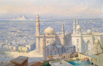 View of Cairo, c.1900, Oil on Canvas