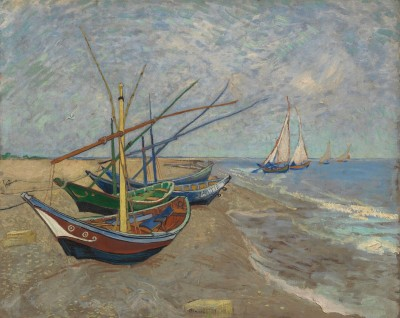 Fishing Boats, Saintes-Maries-de-la-Mer, c.1889, Oil on Canvas
