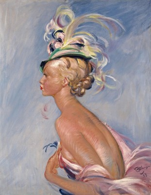 Chapeau à Plumes, c.1928, Oil on Canvas