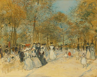 Les Champs Elysees, c.1890, Oil on Canvas