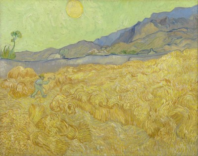 Wheatfield With A Reaper, c.1889, Oil on Canvas