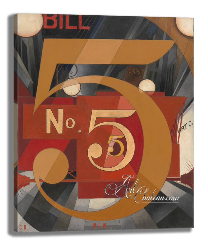 Figure 5 in Gold, after Painting by Charles Demuth