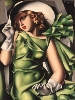Girl in Green with Gloves, c.1926, Oil on Canvas