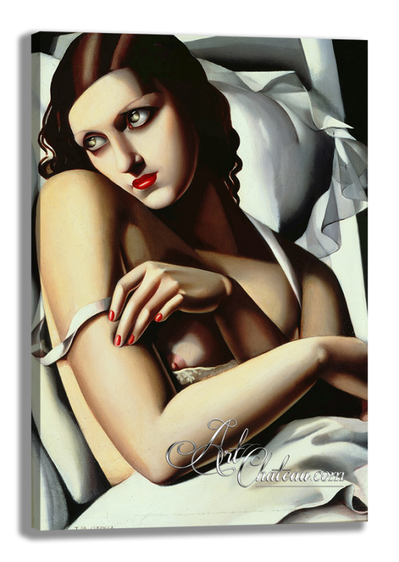 The Convalescent, after painting by Tamara de Lempicka