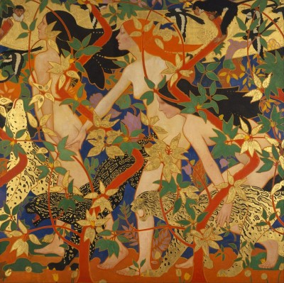 Diana and Her Nymphs, c.1926, Oil or Tempera on Canvas