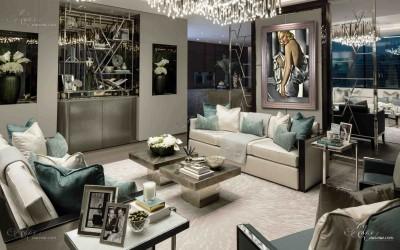 Trousdale Estates Interior Design, after Tamara de Lempicka