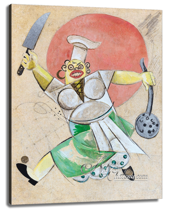 Costume Design for a Cook, after Alexander Khvostov