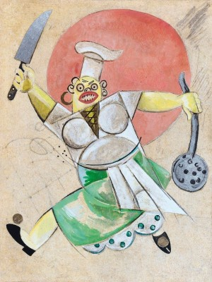 Costume Design for a Cook, c.1929, Oil on Canvas
