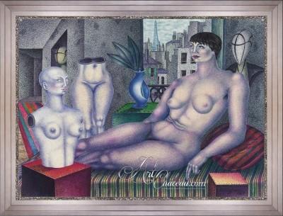 Art Deco Painting, after Anton Krejcar