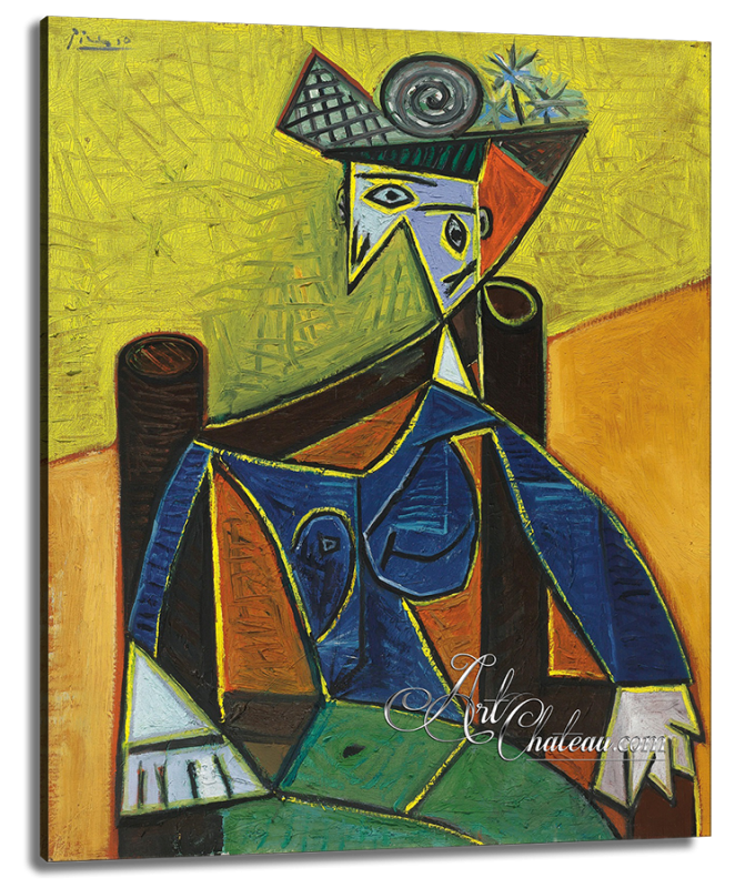 Woman Seated in an Armchair, after Pablo Picasso