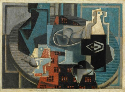 Still life with Bottle and Pears, c.1918, Oil on Canvas