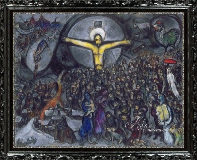 Love, War, and Exile, after Russian artist Marc Chagall