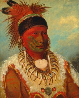 The White Cloud, Head Chief of the Iowas, c.1845, Oil on Canvas