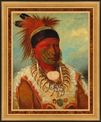 White Cloud, Chief of the Iowas, after George Catlin