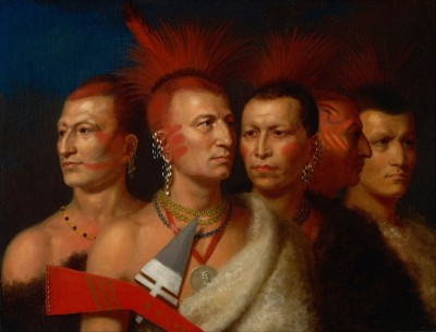 Young Omahaw, War Eagle, Little Missouri, and Pawnees, c.1821, Oil on Canvas