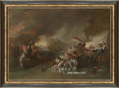 The Battle of the Hogue, after Painting by Benjamin West