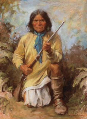 Geronimo, c.1989, Oil on Canvas