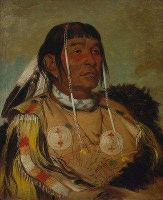 Sha-có-pay, The Six, Chief of the Plains Ojibwa, c.1832, Oil on Canvas