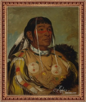 The Six, Chief of the Plains Ojibwa, after George Catlin